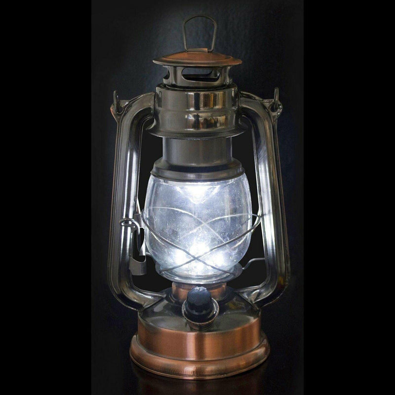 VOCHE COPPER BRONZE 15 LED HURRICANE LANTERN CAMPING TENT LIGHT FISHING LAMP-tooltime.co.uk