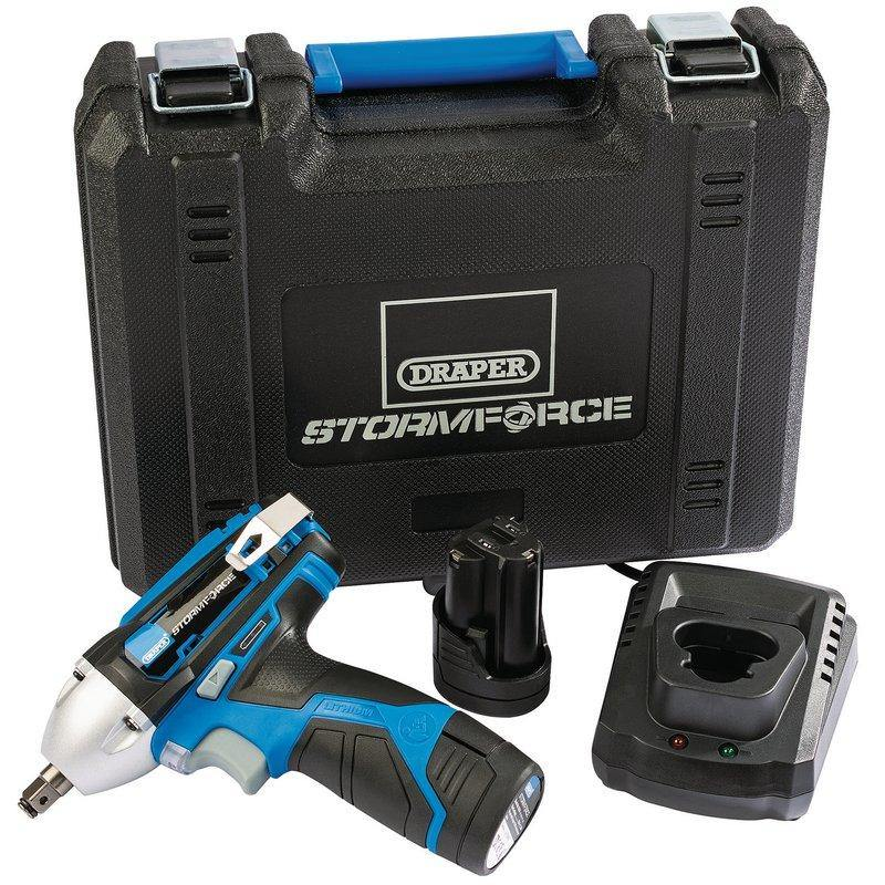 "Draper Storm Force® 10.8V Power Interchange 3/8"" Impact Wrench Kit (80Nm) 