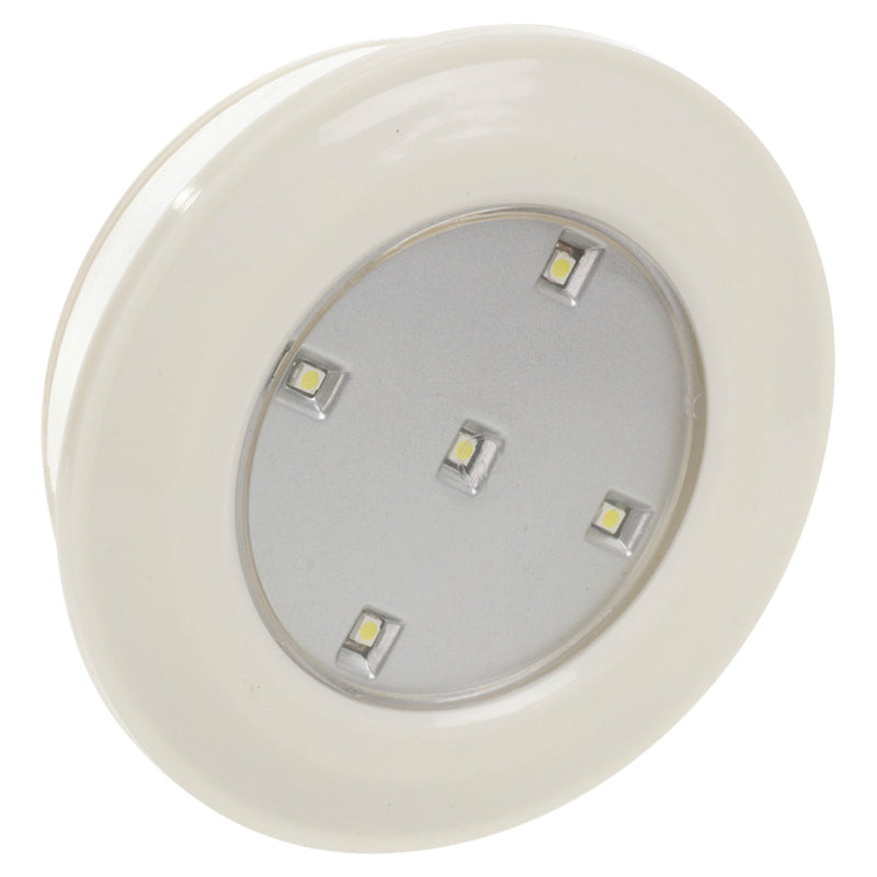6 PACK WHITE 5 SMD LED UNDER CUPBOARD LIGHTS + REMOTE CONTROL WIRELESS CORDLESS - tooltime.co.uk