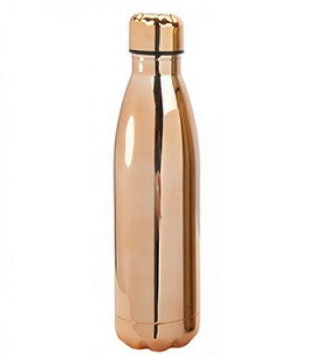 SPORTS DRINKING BOTTLE 500ML STAINLESS STEEL DOUBLE WALL COPPER CAMPING GYM - tooltime.co.uk