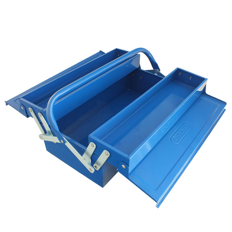 DRAPER 2 TRAY CANTILEVER METAL TOOL BOX 430MM STORAGE TOOL CHEST GARAGE WORKSHOP-tooltime.co.uk