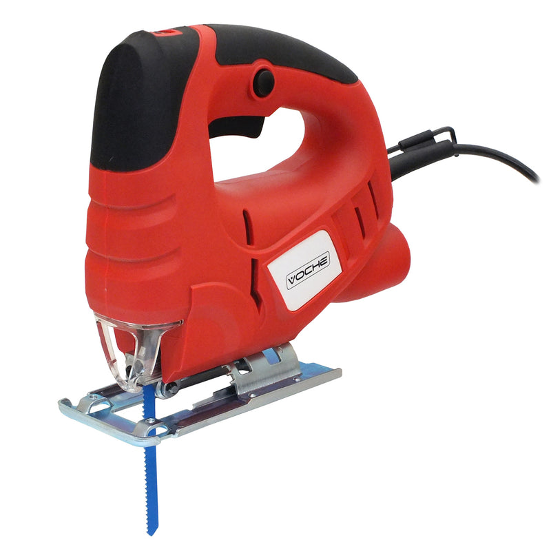 VOCHE® 400W ELECTRIC JIGSAW VARIABLE SPEED PENDULUM CUTTING JIG SAW & 16 BLADES - tooltime.co.uk