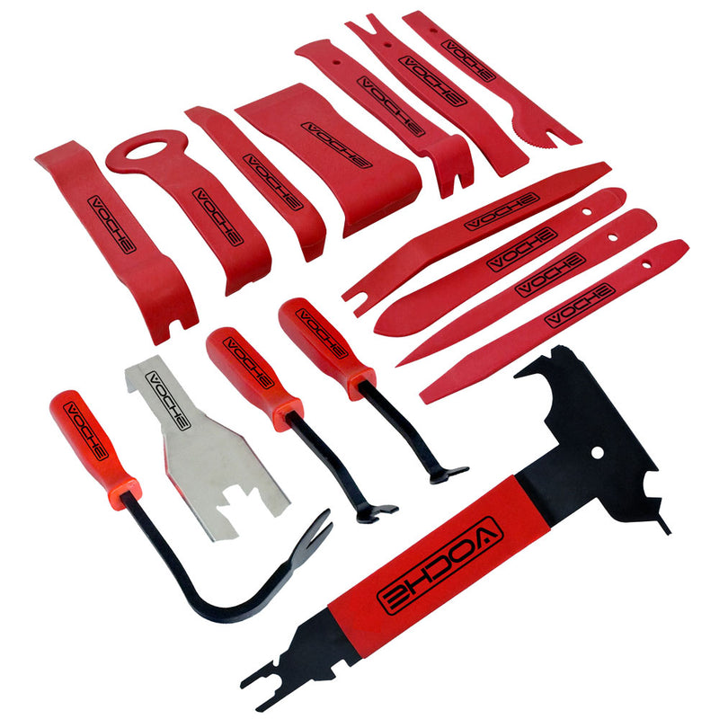 VOCHE® 16PC CAR AUTO BODY MOULDING DOOR TRIM CLIP REMOVER PANEL REMOVAL TOOL KIT - tooltime.co.uk
