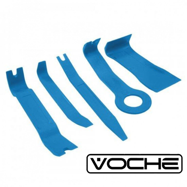 VOCHE® 5PC CAR BODY MOULDING DOOR TRIM CLIP REMOVER PANEL REMOVAL TOOLKIT TOOLS - tooltime.co.uk