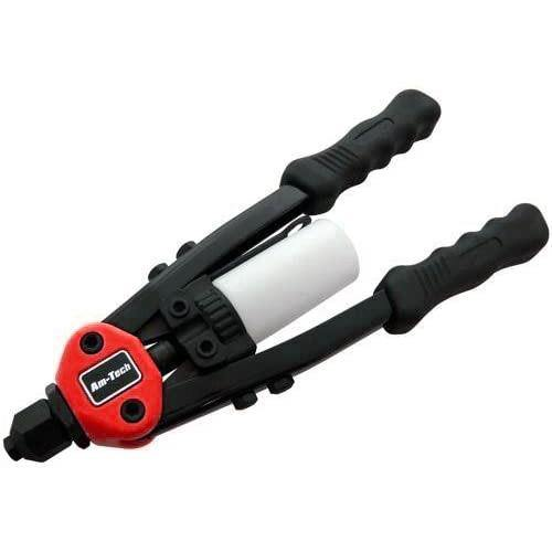 HEAVY DUTY 5-in-1 HAND RIVETER 320 RIVETS 5 NOSE PIECE SIZES POP RIVET GUN TOOL-tooltime.co.uk