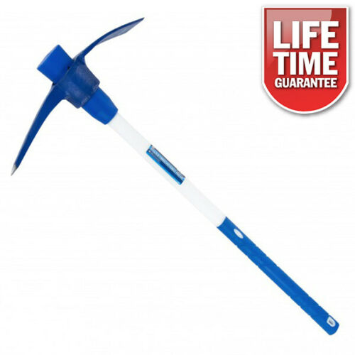 "4.5lb PICK AXE HEAT TREATED STEEL HEAD 36"" LONG FIBREGLASS HANDLE SHAFT PICKAXE-tooltime.co.uk"