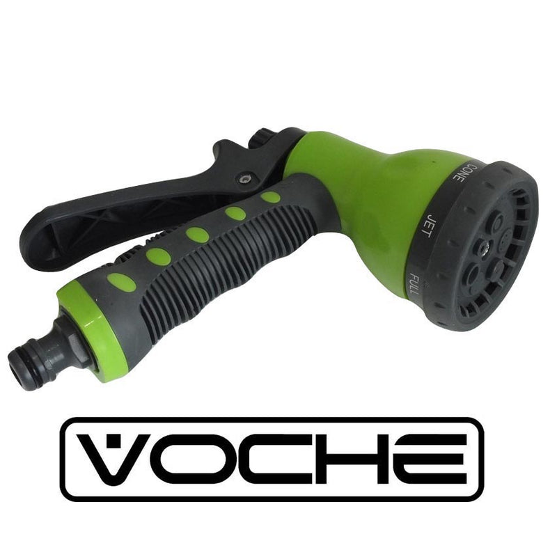 VOCHE 50ft ORANGE EXPANDING STRETCH COMPACT GARDEN HOSE + MULTI JET SPRAY GUN-tooltime.co.uk