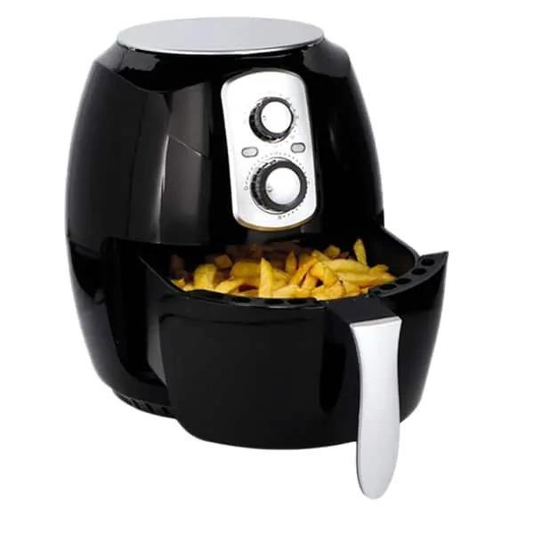DELUXE 3.6L RAPID AIR FRYER HEALTHY LOW FAT OIL FREE 1400W - BLACK-tooltime.co.uk