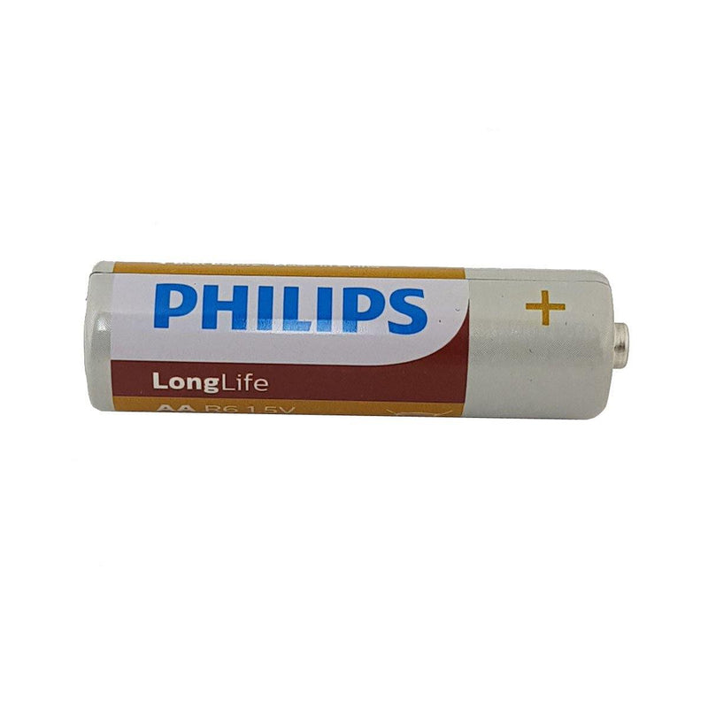 8 X 1.5V AA PHILIPS LONG LIFE ZINC BATTERIES MERCURY FREE EXPIRY 04-2022-tooltime.co.uk