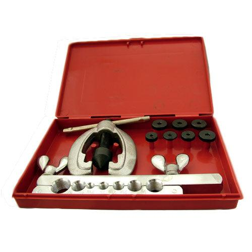 10 PIECE METRIC COPPER PIPE BRAKE FLARING TOOL KIT SET + STORAGE CASE - tooltime.co.uk