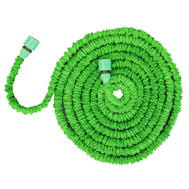 100ft LIGHTWEIGHT EXPANDING NON KINKING GARDEN HOSE c/w 7 PATTERN SPRAY GUN - tooltime.co.uk