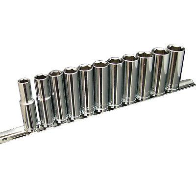 "11PC  3/8"" DRIVE HEAVY DUTY METRIC DEEP SOCKET SET 8MM - 19MM CRV DR SOCKETS - tooltime.co.uk"