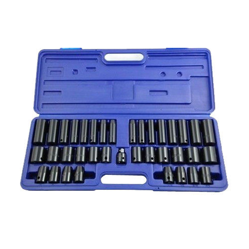"38 PCE 1/2"" 3/8"" DEEP SHALLOW AF METRIC AIR IMPACT CRV SOCKET SOCKETS SET + CASE - tooltime.co.uk"