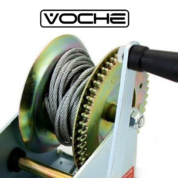VOCHE® 1200LB MANUAL HAND POWERED WINCH BOAT MARINE CAR TRAILER WITH 20m CABLE-tooltime.co.uk