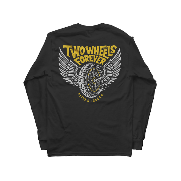 Two Wheels Forever Long Sleeve - A&fco