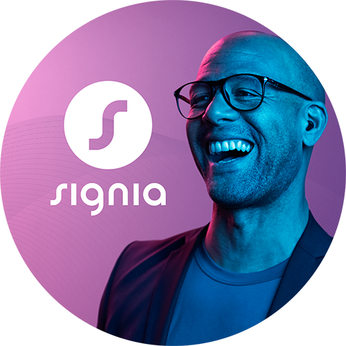 Signia Active hearables available from bloom hearing specialists