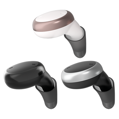 Signia Active hearables are available in Snow White/Rose Gold, Black and Black/Silver