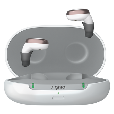With Signia Active's handy pocket-sized charging case you have up to 26 hours use per charge so they are ready whenever you need them