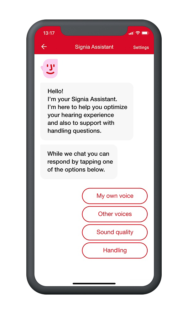 The AI powered Signia Assistant helps you hear what matters to you