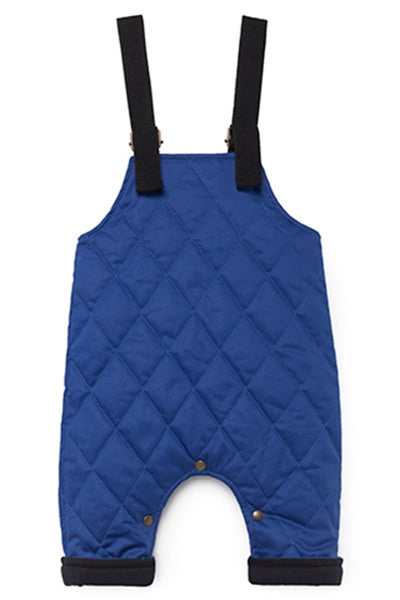 Baby Quilted Dungarees in Blue