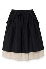 Long Woolen Skirt in Black (Kids)