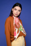 Treasure Hunt silk scarf in cream