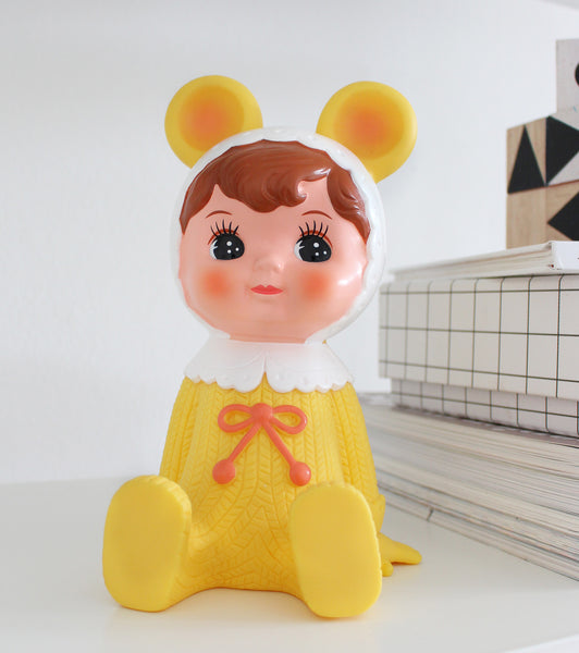 Yellow Woodland Doll Money Box