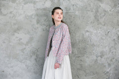 Kakera Corduroy Jacket in Pink and Grey