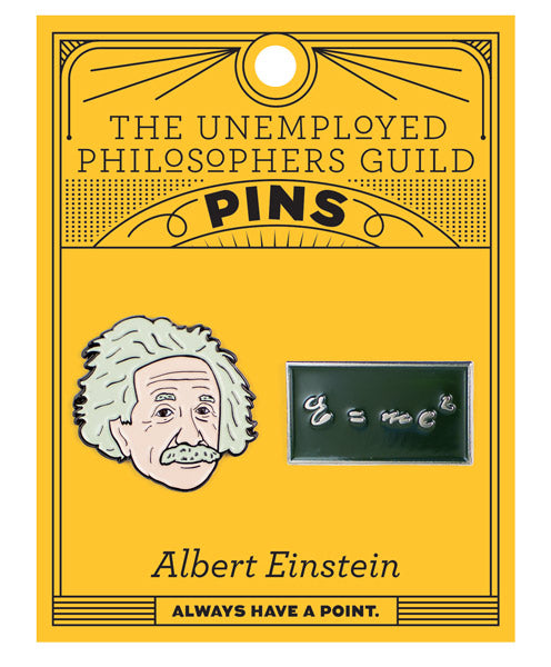 ALBERT EINSTEIN AND E=MC2 PINS