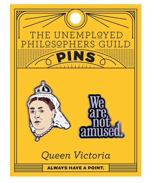 QUEEN VICTORIA & WE ARE NOT AMUSED PINS