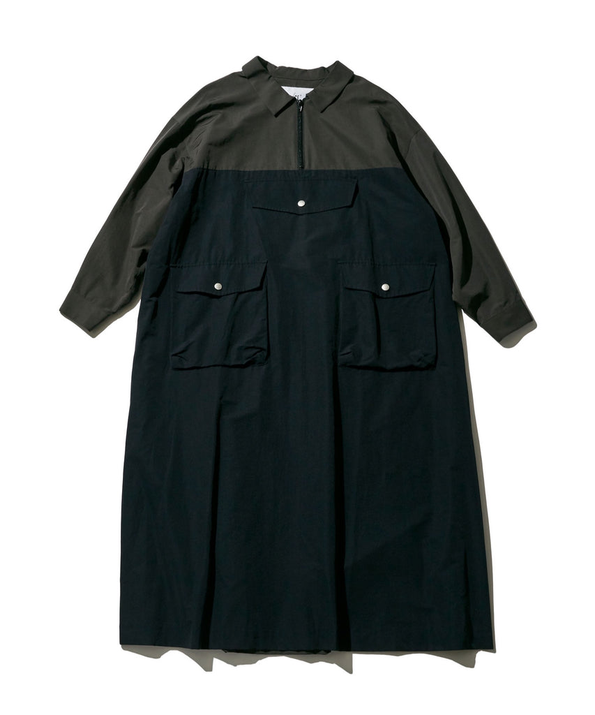 ANORAK LONG ONE-PIECE in Charcoal