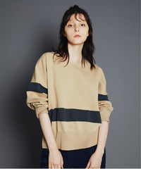 WASHABLE LINE KNIT in Beige