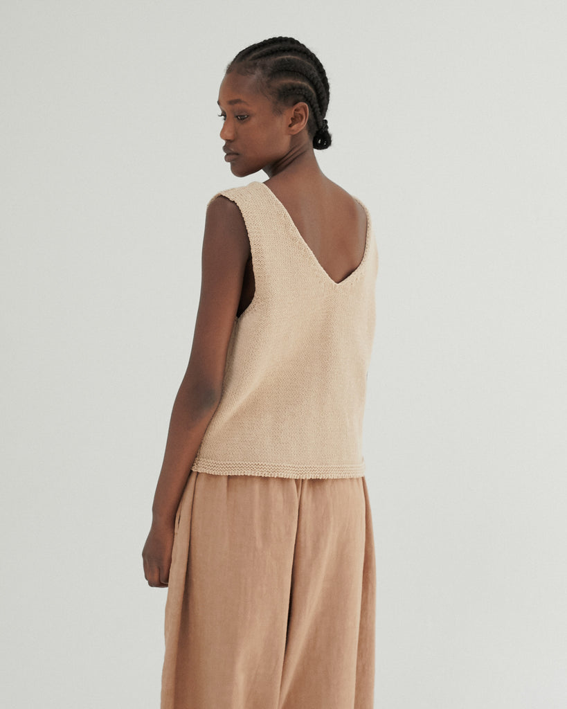 NOUGAT RELAXED KNIT TOP