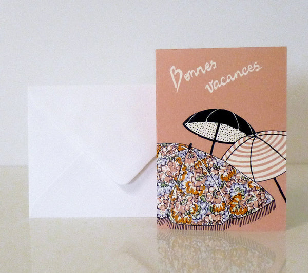 """Parisian Vacation"" Pack of 4 Greeting Cards"