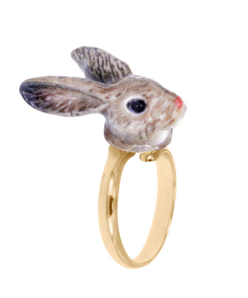 Brown Rabbit Ring