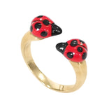 Ladybug Face to Face Ring
