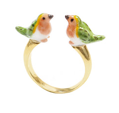 Robin Bird Face to Face Ring
