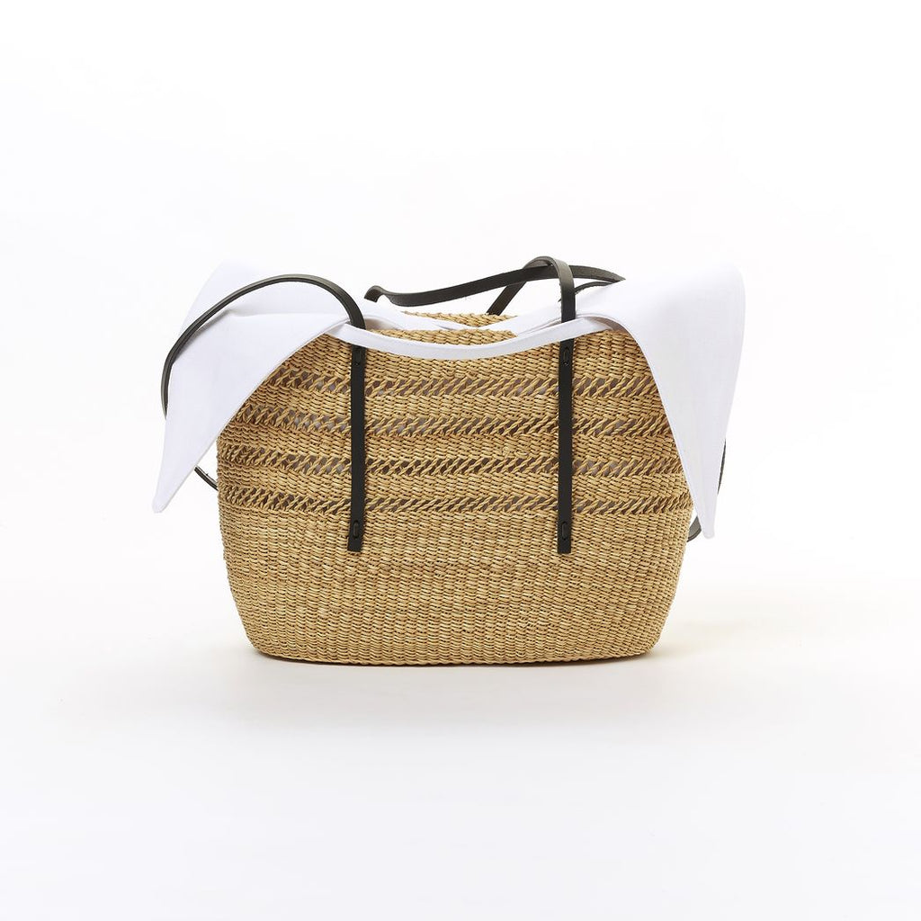 Bicro Panier Nat X Black with White Pouch