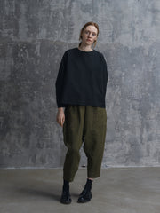 Olive Pants with Pockets in Front