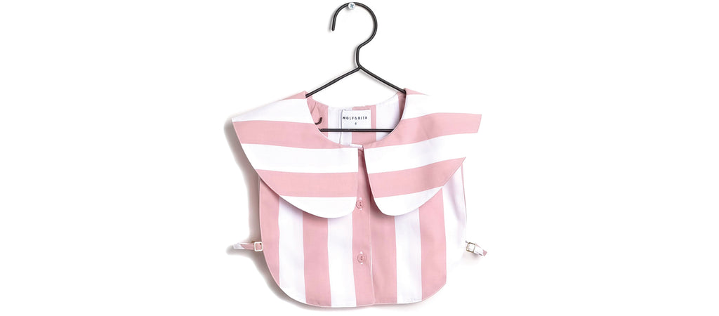 Collar Marta in Pink Stripes (Kids)