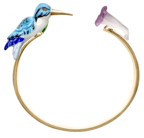 Blue Humming Bird Face to Face bracelet