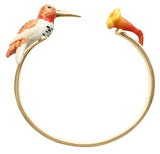 Orange Humming Bird Face to Face Bracelet