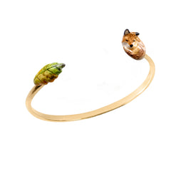 Fox and Leaf Bracelet