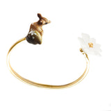 Doe and Flower Bracelet