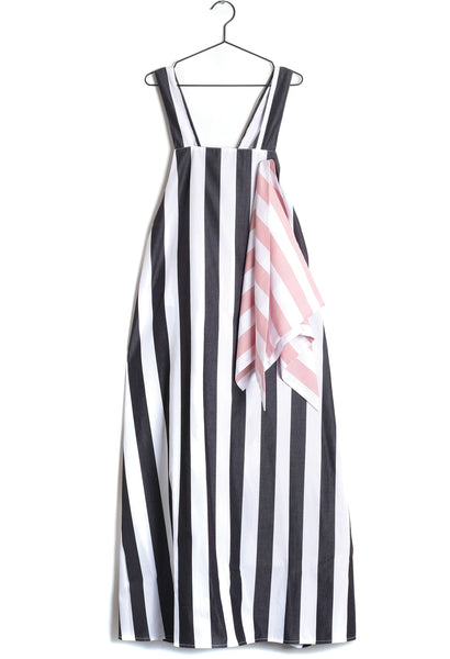 Mafalda Apron Dress in White Stripes (Women)