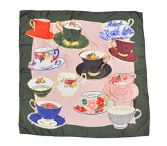 Vintage Tea Cups Scarf by Joyeuserie X Cicoillustrates