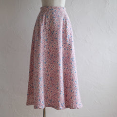 KAKERA CORDUROY LONG SKIRT IN PINK AND GREY