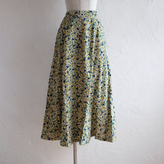 Kakera Corduroy Long Skirt in Green