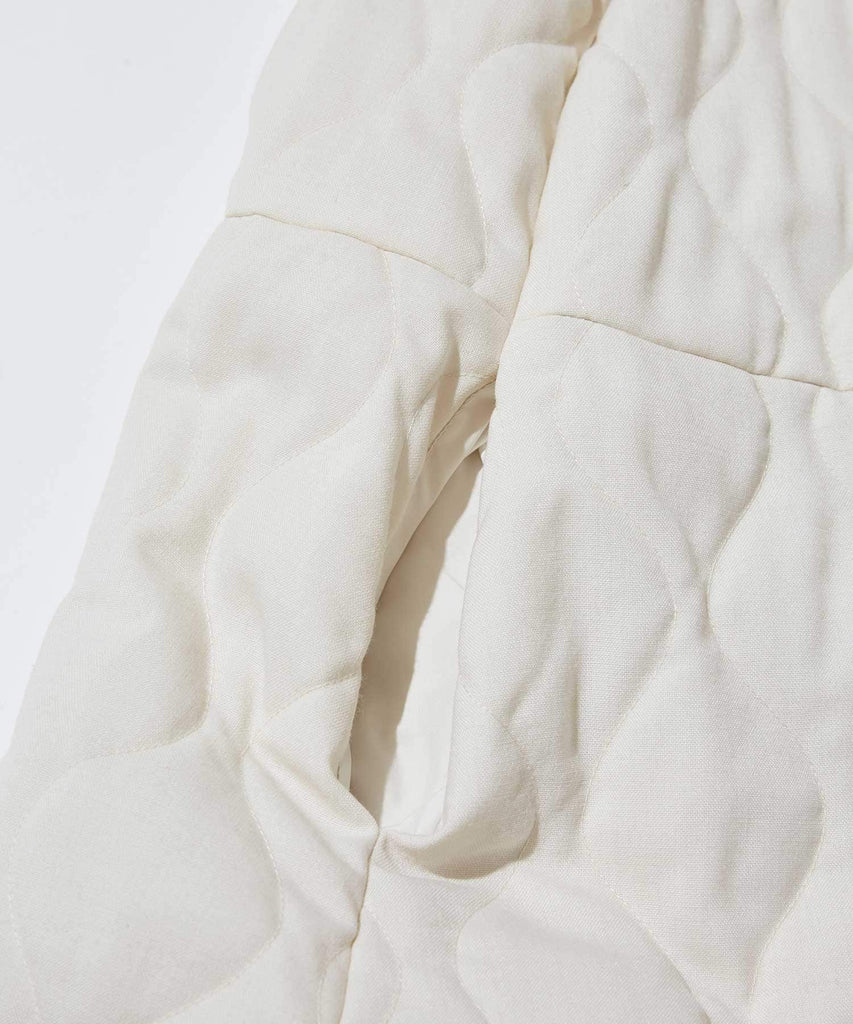 Wool Quilt One Piece in White