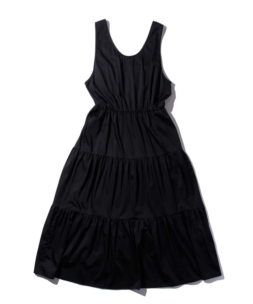 CUPRA TIERED DRESS in Black